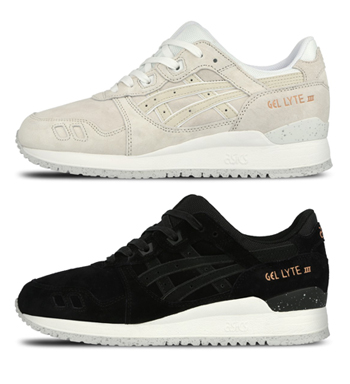 asics gel-lyte iii rose gold off-white black p