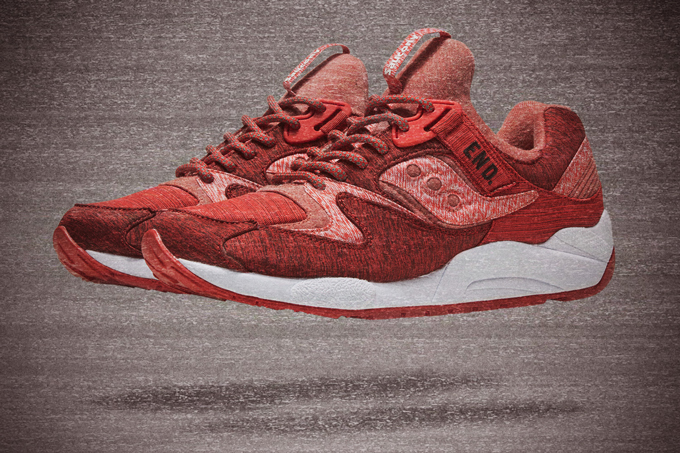 7db76fbe2bf2 END x Saucony Grid 9000 Red Noise - The Drop Date