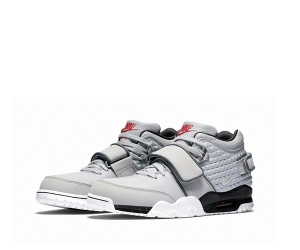 nike air trainer victor cruz wolf grey Metallic Silver Black Bright Crimson 777535-001 f