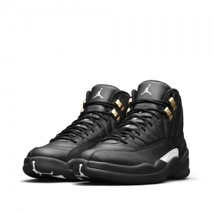 nike air jordan 12 retro the master Black White Black Metallic Gold 130690-013 f
