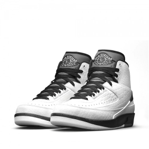 nike air jordan 2 retro wing it White Black Dark Grey 834272-103 f