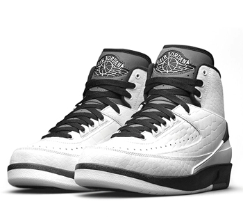 nike air jordan 2 retro wing it White Black Dark Grey 834272-103 p