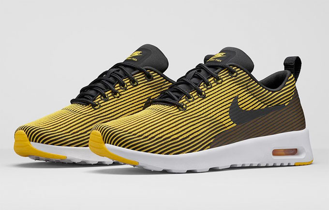 nike air max thea black and yellow