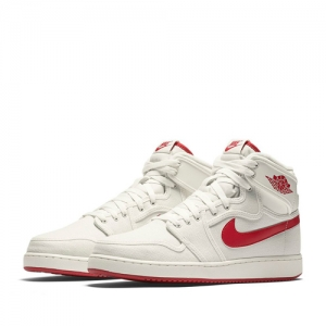 nike air jordan 1 ko high og timeless canvas Sail-Varsity Red 638471-102 f