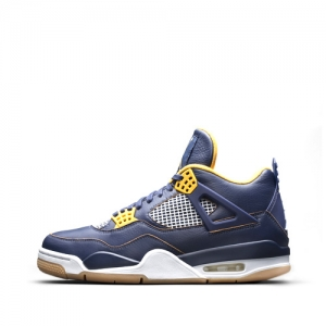 nike air jordan 4 retro dunk from above Midnight Navy Varsity Maize White Metallic Gold Star 308497-425 f