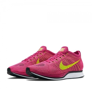 nike flyknit racer santa monica sunset Fireberry-Pink Flash-Volt 526628-607 f
