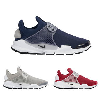nike sock dart 2016 colourways sp 819686-601 819686-002 819686-400 Midnight Navy Medium Grey White Black gym red f