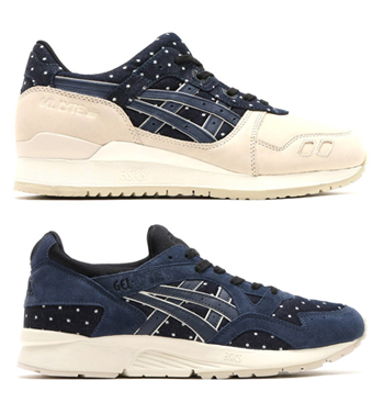 asics tiger gel-lyte iii v japanese textile pack denim polka dot indian ink p