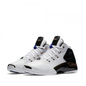 nike air jordan 17+ copper White-Black-Sport Royal-Metallic Copper Coin 832816-122 f