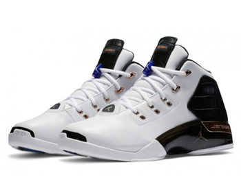 nike air jordan 17+ copper White-Black-Sport Royal-Metallic Copper Coin 832816-122 p