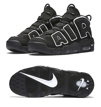 5367ff6143f0 NIKE AIR MORE UPTEMPO. Black   White - 414962-002