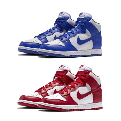 nike dunk be true to your school blue red f