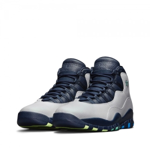 nike air jordan 10 retro city pack rio de janeiro Wolf Grey-Obsidian-Green Glow-Photo Blue 310805-019 f2