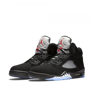 nike air jordan 5 metallic silver