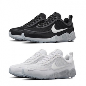 nikelab air zoom spiridon reflective pack black white silver main