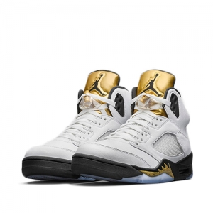 Air Jordan 5 Retro White Metallic Gold