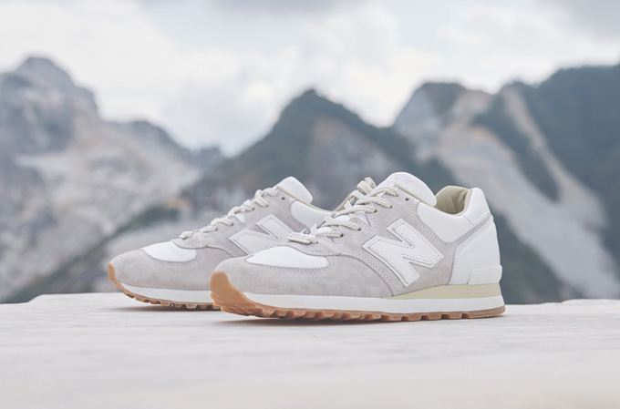 END. x New Balance M575 Marble White - The Drop Date