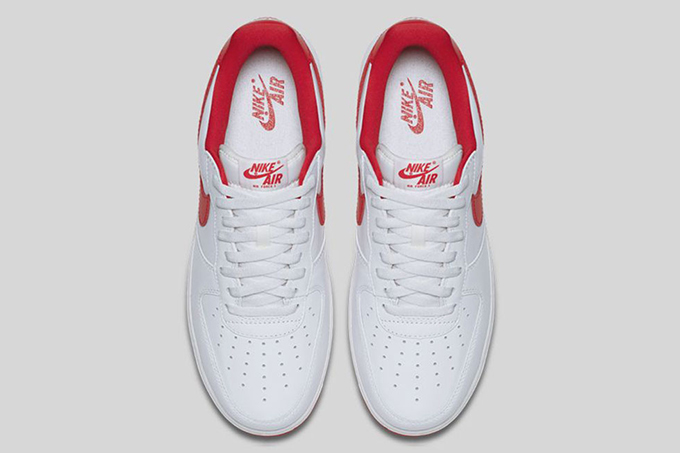 detailed look 7cd04 41436 nike air force 1 low retro summit white university red 3