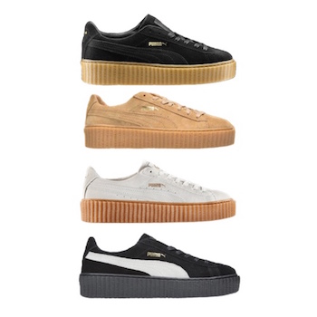 fenty by rihanna x puma suede creeper collection. Black Bedroom Furniture Sets. Home Design Ideas