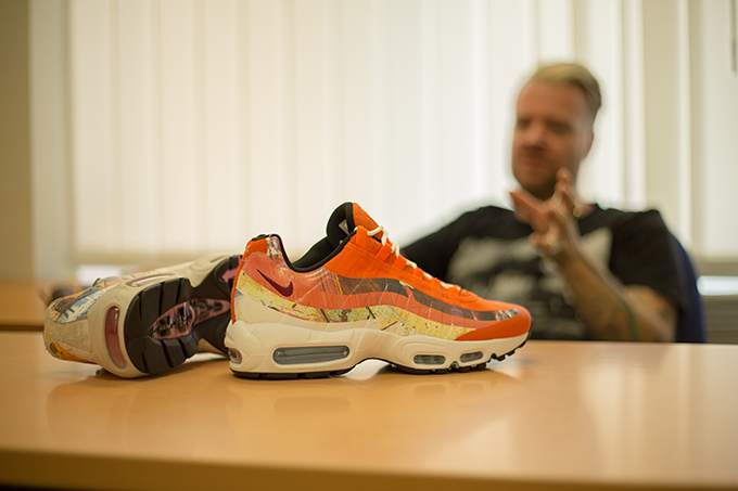 sports shoes a4d49 c8c4c gary warnett interviews dave white. To celebrate the release of the SIZE  x  DAVE WHITE x NIKE AIR MAX 95 ...