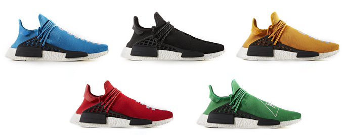 separation shoes a9ee4 63faf adidas Originals x Pharrell Williams HU NMD New Colours