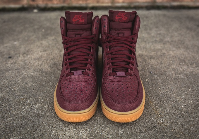 62192c81cef31 Nike Women s Air Force 1 High Night Maroon   Gum - A First Look ...