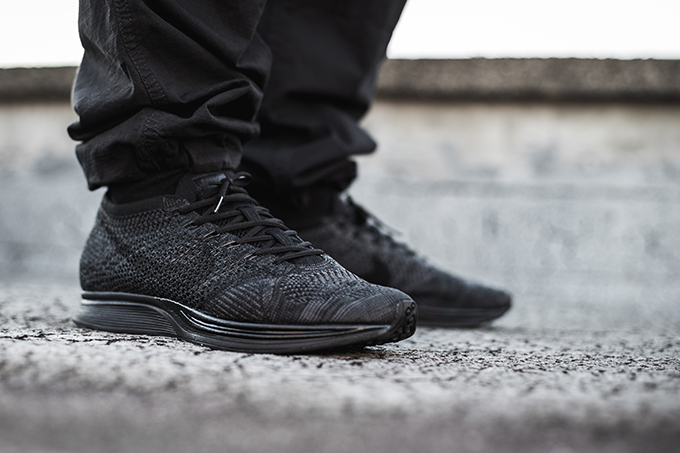 new arrival 4637b 06288 Back in Triple Black  The Nike Flyknit Racer Midnight