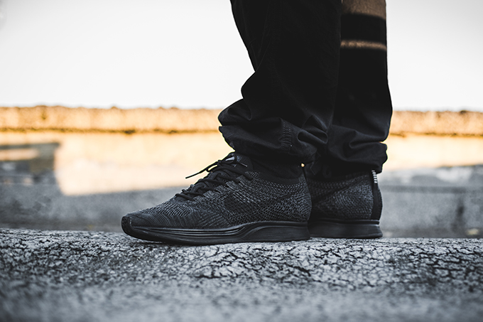 75b7524430c9 Back in Triple Black  The Nike Flyknit Racer Midnight - The Drop Date