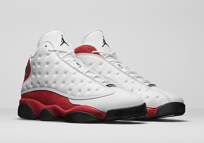 the latest 09799 6c45e Back to the future with the Nike Air Jordan 13 True Red 2017 ...