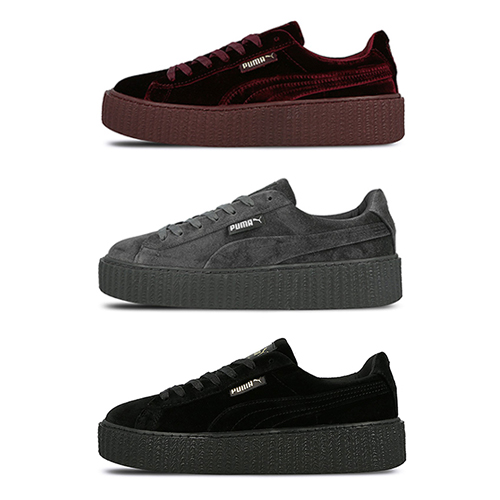 fenty by rihanna x puma velvet creeper collection. Black Bedroom Furniture Sets. Home Design Ideas