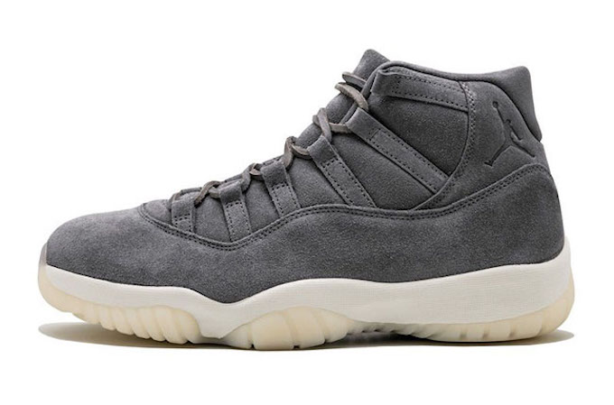 nike air jordan 11 retro grey suede