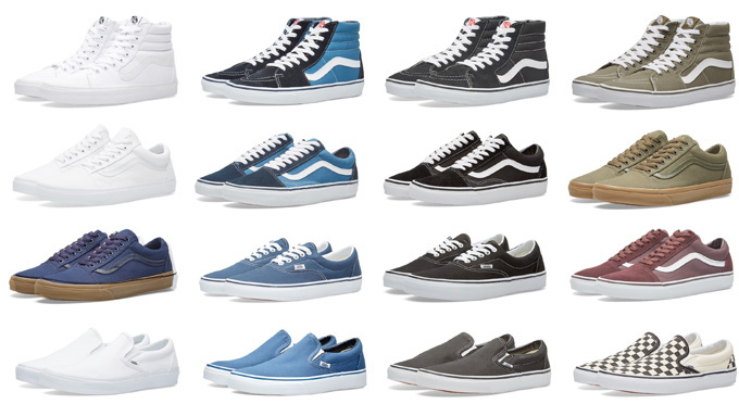 Classic Vans Styles Available Now At