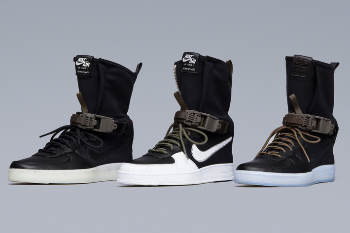 huge discount ac8f7 56a71 The long-awaited NIKE AF1 DOWNTOWN HI SP ACRONYM is finally releasing,  bringing months of speculation to an end. Sample pairs have been spotted in  various ...