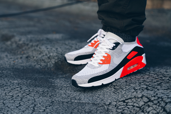 new arrivals 61bac d941b The NIKE AIR MAX 90 ULTRA 2.0 FLYKNIT INFRARED: rebirth of ...