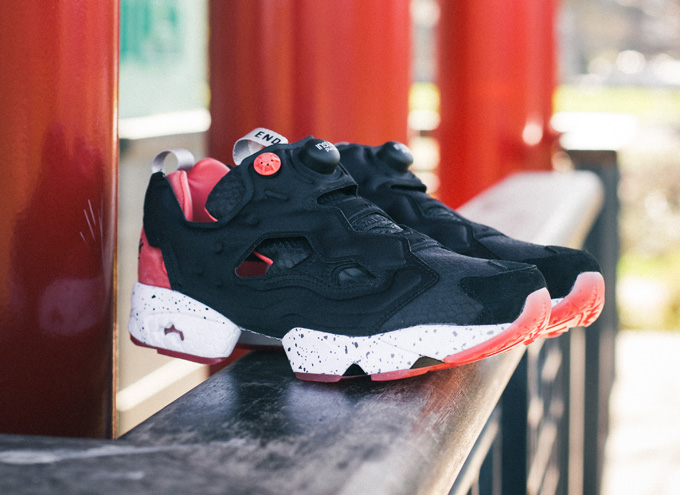 f3a5046b On-Foot Exclusive: the END. x Reebok Instapump Fury OG 'Black Salmon ...