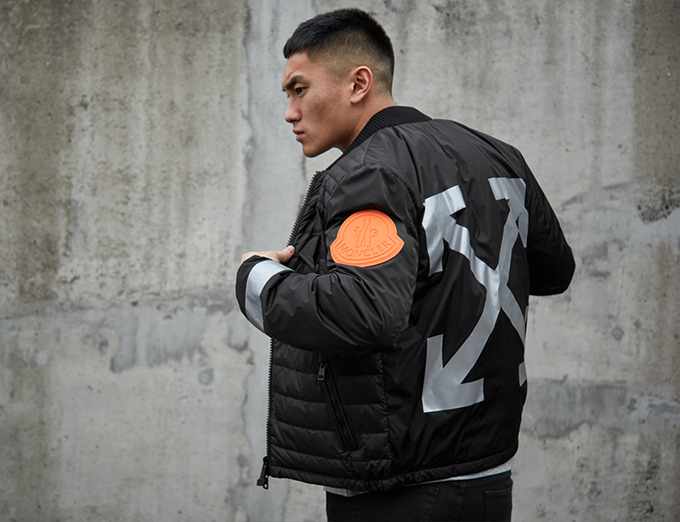 moncler off white collection