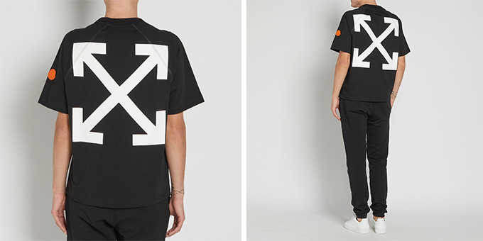Moncler x off white moncler o ss17 collection black for Off white moncler t shirt
