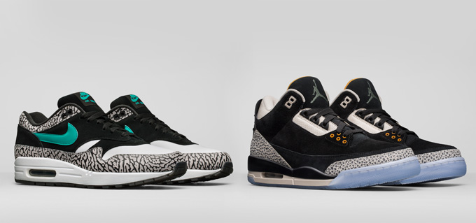 bee2f337b9a62b Nike s Elephant Is Back in the Room  The atmos Air Max 1 x Jordan ...