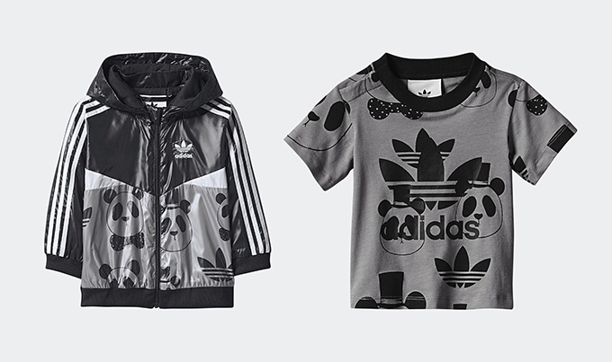 ADIDAS ORIGINALS BY MINI RODINI SS17 PT 3 ADIDAS ORIGINALS BY MINI RODINI SS17 PT 3 is the latest instalment in this season's collab from the German sportswear giant and the Swedish childrenswear brand. As with the previous drops, this new release takes iconic adidas Originals garments, shrinks them down to mini-me size, and embellishes them with print designs from Mini Rodini founder and creative director Cassandra Rhodin. This time round we're treated to the iconic Firebird tracksuit and windbreaker, the Superstar and a selection of accessories, all decked out with sustainable fabrics and a colour palette of greys and pinks that reflects the colours that grown-ups are fiending after this season too. A panda head pattern decorates the tracksuits, tees, windbreakers, bags and bucket hats, and the same illustration appears at the heel of the Superstars. Everyone knows that shoes look better in smaller sizes, and it seems this holds true for tracksuits too... ADIDAS ORIGINALS BY MINI RODINI SS17 Pt 3 will be available on 4 MAY with ADIDAS and select retailers, with clothing for kids aged 3 months to 6 years and footwear from sizes 3k to 9.5k. Take a look at the range below, and click on the banners to shop the new drop once it goes live... ADIDAS ORIGINALS BY MINI RODINI SS17 PT 3 ADIDAS ORIGINALS BY MINI RODINI SS17 PT 3 ADIDAS ORIGINALS BY MINI RODINI SS17 PT 3