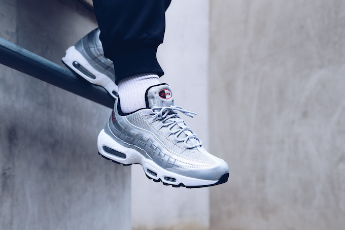 nike air max 95 silver bullet onfoot shots the drop date