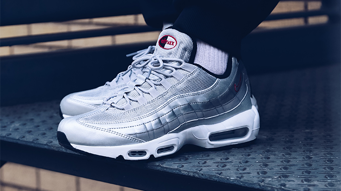 Nike Air Max 95 Silver Bullet: On Foot Shots The Drop Date