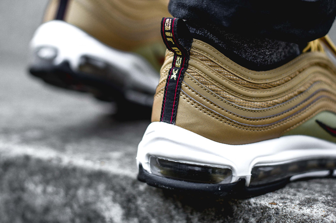 online store 8dd0d a1c7d Available Now: Nike Air Max 97 Metallic Gold - On-Foot Shots ...