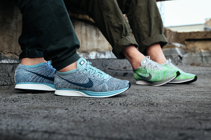 timeless design b965d b50d7 ... releases 67494 27659 australia nike flyknit racer macaron pack on foot  shots via chris 532b5 4edff ...