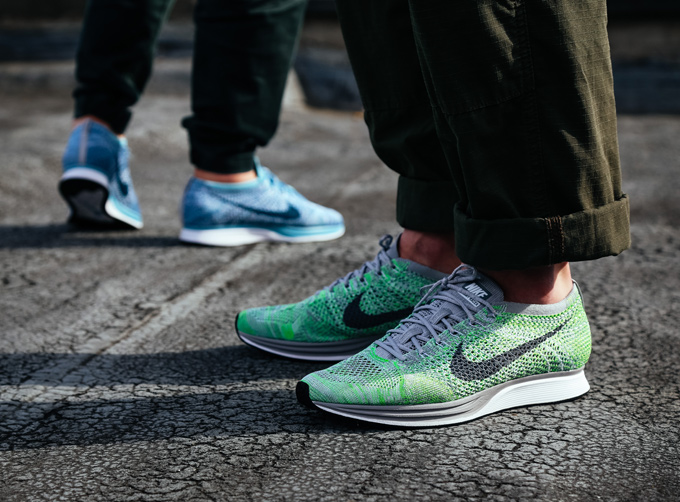 8e9a5b68d9cf5 Nike Flyknit Racer Macaron Pack  On-Foot Shots - The Drop Date