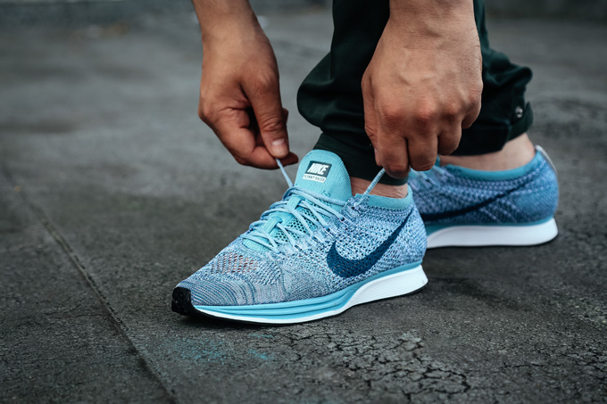 bc6b94de7487d Nike Flyknit Racer Macaron Pack  On-Foot Shots - The Drop Date