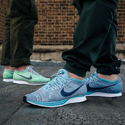 buy popular f96de f5be8 Nike Flyknit Racer Macaron Pack On-Foot Shots - The Drop Dat