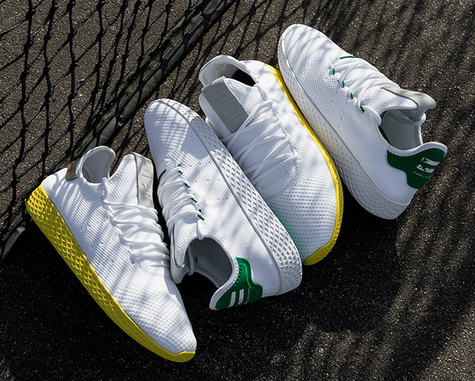 The adidas Originals x Pharrell Williams Tennis Hu Releases