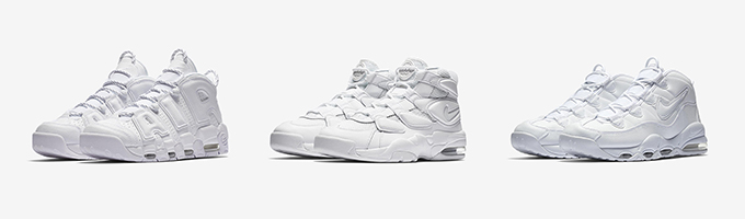 116a5bc41 Nike Air More Uptempo Triple White Pack - The Drop Date