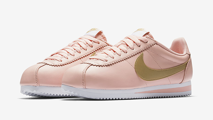 nike cortez with gold swoosh