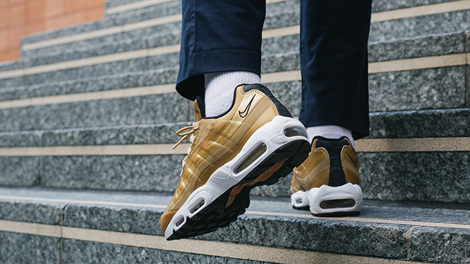 size 40 174c5 087b3 Nike Air Max Premium 95 QS Metallic Gold